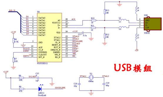 usb口网线口接线图